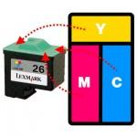 Refilling Lexmark 26 & 27 Colour Cartridges