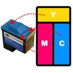 Refilling Dell T0530 Colour Cartridges