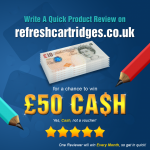 Write A Quick Review for a chance to win £50