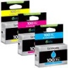 3 Colour Original Return Program Cartridges Cyan, Magenta & Yellow for Various Lexmark Printers (Lexmark 100XL/14N0850)