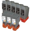 Everyday Valuepack - 8 Cartridges - 5 Black and 3 Colour for Canon Multipass C530 Printers (BCI-21B & BCI-21C)