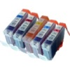 Colour Valuepack - 5 Compatible Ink Cartridges for Canon BJC6100 Printers (BCI-3eC/M/Y/PC/PM)