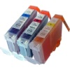 Colour Valuepack - 3 Compatible Ink Cartridges for Various Canon Printers (526C/M/Y)