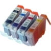 Colour Valuepack - 4 Compatible Ink Cartridges for Canon Pixma MG6100 Printers (526BK/C/M/Y)