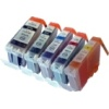 Everyday Valuepack - 5 Compatible Ink Cartridges for Canon Pixma MG5350 Printers (526BK/C/M/Y & 525PGBK)