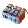 Everyday Valuepack - 4 Compatible Ink Cartridges for Various Canon Printers (BCI-3eBk/C/M/Y)