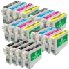 Super Saver Valuepack - 20 Cartridges - 8 Black and 4 each of Cyan, Magenta and Yellow for Epson Stylus C66 Printers (T0441/2/3/4)