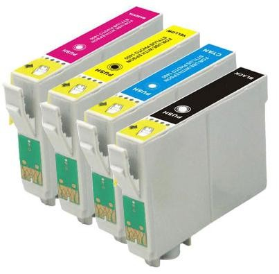 Compatible Valuepack - 4 Cartridges - 1 Each of Black, Cyan, Magenta and Yellow for Epson Stylus C80 Printers (T0321/2/3/4)