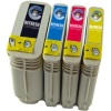 Remanufactured Valuepack - 4 Cartridges - 1 of each Colour for HP Business Inkjet 2250TN Printers (C4844A / C4836A / C4837A / C4838A)