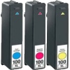 Colour Valuepack - 3 Compatible Ink Cartridges for Lexmark Platinum Pro 905 Printers (100 C/M/Y/K) - High Capacity