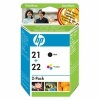 Original Ink Cartridges Multi-Pack - Includes C9351AE and C9352AE for HP Deskjet D1320 Printers (SD367AE)