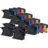 Super Saver Valuepack - 20 Compatible Brother Ink Cartridges for Various Brother Printers (LC1280XL K/C/M/Y)
