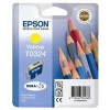 Yellow Original Cartridges for Epson Stylus C80 Printers (T0324)
