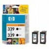 Black Original TWIN PACK of cartridges for HP Photosmart 2575 Printers (C8767ee x 2) HP 339 x 2 - 21ml