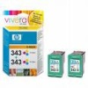 Colour Original TWIN PACK of cartridges for HP PhotoSmart C4173 Printers (CB332E) - 7ml
