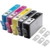 Everyday Valuepack - 5 Unchipped Compatible Ink Cartridges for HP Photosmart D5460 Printers (364XL BK/PBK/C/M/Y) - HIGH YIELD - Without Chip; please click for instructions.