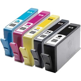 Everyday Valuepack - 5 Compatible Ink Cartridges for HP Photosmart D5460 Printers (364XL BK/PBK/C/M/Y) - HIGH YIELD - Chipped and Ready to Use