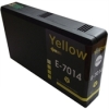 Yellow Remanufactured Cartridges for Epson WorkForce Pro WP-4095 DN Printers (T7014)