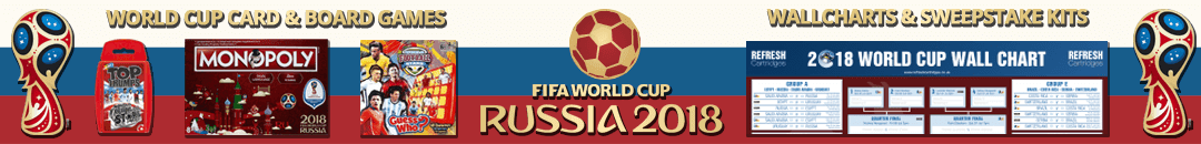 World Cup 2018 Board Games, Card Games, Gifts and Wallcharts