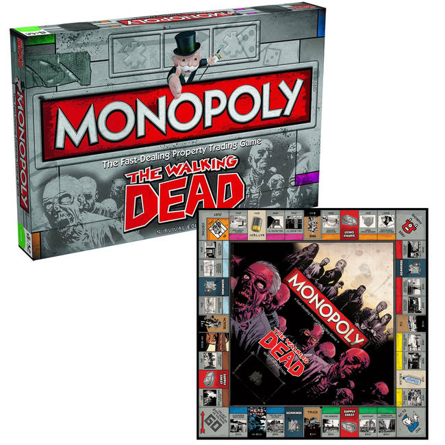 Monopoly Walking Dead Survival Edition Board Game By Winning Moves