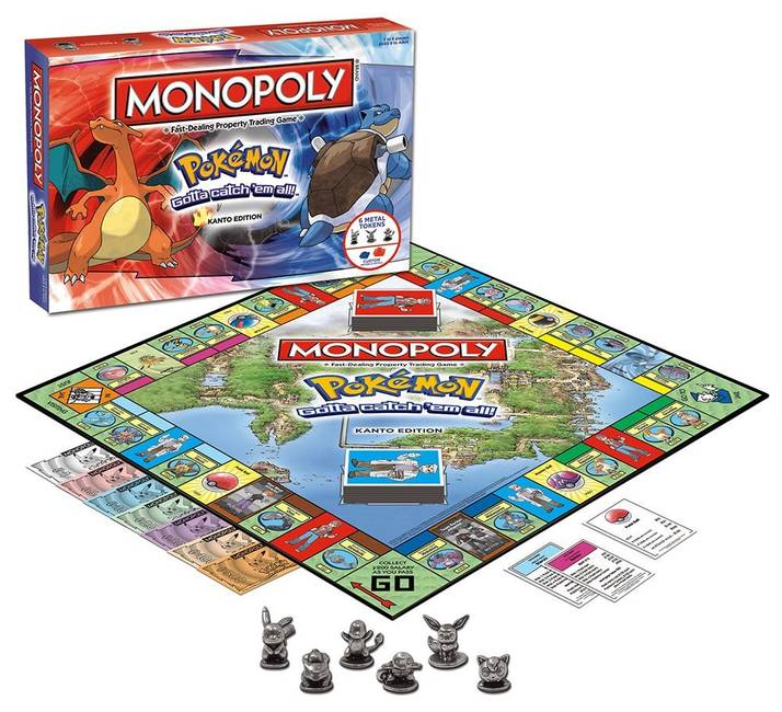 Monopoly Pokemon Kanto Edition Board Game By Winning Moves