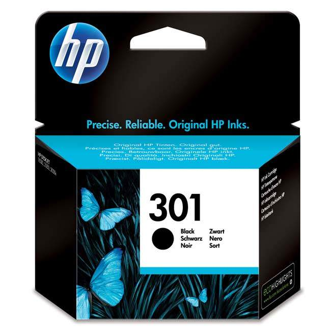 Original Hp 301 Black Ink Cartridges (ch561ee)