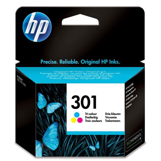 Original Hp 301 Colour Ink Cartridge (ch562ee)