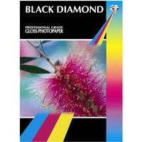 Black Diamond Gloss Coated Double Sided A3 Professional Grade Photopaper 155gsm - 20 Sheets (7155A3DSGL20) Image