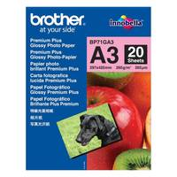 Original Brother A3 Glossy Photo Paper 260gsm - 20 Sheets (BP71GA3) Image