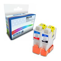Canon B380IF ready Basic Valuepack of 4 Compatible Canon BCI-21B and BCI-21C Ink Cartridges (0899A002 & 0955A002) Image
