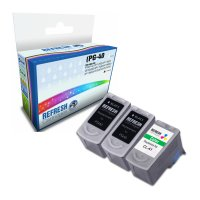 Everyday Valuepack of 3 Remanufactured Canon Ink Cartridges (PG-40 / CL-41) Image