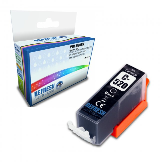 Canon PGI-520BK Compatible Inkjet Cartridge
