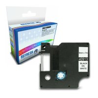 Dymo LabelManager 300 ready Compatible Dymo 40913 Black on White 9mm x 7m Label Cartridge (S0720680) Image