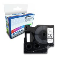 Dymo LabelManager 300 ready Compatible Dymo 45013 Black on White 12mm x 7m Label Cartridge (S0720530) Image