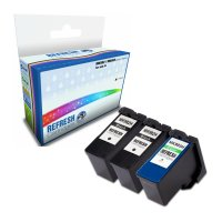 Dell All In One V305 ready Everyday Valuepack of 3 Remanufactured Dell MK992 & MK993 High Capacity Ink Cartridges (592-10211 & 592-10212) Image