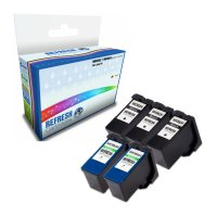 Dell All In One V305 ready Super Saver Valuepack of 5 Remanufactured Dell MK992 & MK993 High Capacity Ink Cartridges (592-10211 & 592-10212) Image