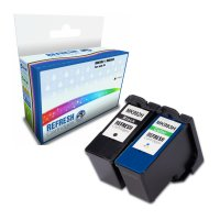 Dell All In One V305 ready Basic Valuepack of 2 Remanufactured MK992 & MK993 High Capacity Ink Cartridges (592-10211 & 592-10212) Image