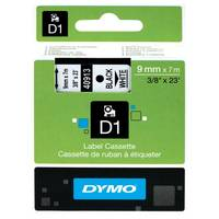 Dymo LabelManager 300 ready Original Dymo 40913 Black on White 9mm x 7m D1 Label Cartridge (S0720680) Image