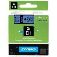 Dymo LabelManager 300 ready Original Dymo 40916 Black on Blue 9mm x 7m D1 Label Cartridge (S0720710) Image