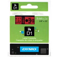 Dymo LabelManager 300 ready Original Dymo 40917 Black on Red 9mm x 7m D1 Label Cartridge (S0720720) Image