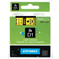 Dymo LabelManager 300 ready Original Dymo 40918 Black on Yellow 9mm x 7m D1 Label Cartridge (S0720730) Image