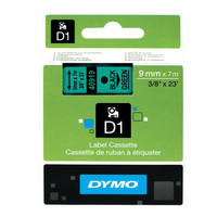 Dymo LabelManager 300 ready Original Dymo 40919 Black on Green 9mm x 7m D1 Label Cartridge (S0720740) Image