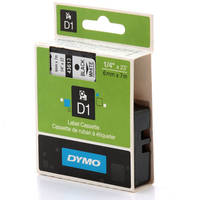 Dymo LabelManager 300 ready Original Dymo 43613 Black on White 6mm x 7m D1 Label Cartridge (S0720780) Image