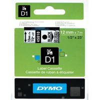 Dymo LabelManager 300 ready Original Dymo 45010 Black on Transparent 12mm x 7m D1 Label Cartridge (S0720500) Image