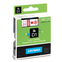 Dymo LabelManager 300 ready Original Dymo 45012 Red on Transparent 12mm x 7m D1 Label Cartridge (S0720520) Image