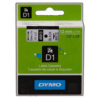 Dymo LabelManager 450 ready Original Dymo 45013 Black on White 12mm x 7m D1 Label Cartridge (S0720530) Image