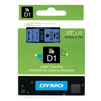 Dymo LabelManager 300 ready Original Dymo 45016 Black on Blue 12mm x 7m D1 Label Cartridge (S0720560) Image