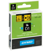 Dymo LabelManager 300 ready Original Dymo 45018 Black on Yellow 12mm x 7m D1 Label Cartridge (S0720580) Image