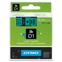 Dymo LabelManager 300 ready Original 45019 Dymo Black on Green 12mm x 7m D1 Label Cartridge (S0720590) Image