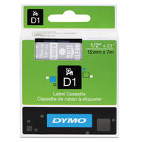 Dymo LabelManager 300 ready Original Dymo 45020 White on Transparent 12mm x 7m D1 Label Cartridge (S0720600) Image